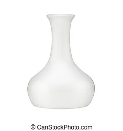White vase isolated on white background with clipping path