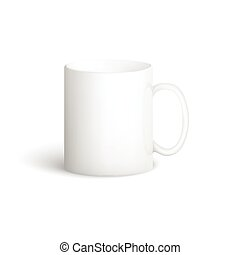 White vector cup.