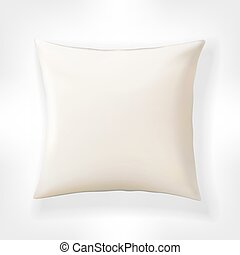 White vector pillow. Realistic blank template for your design.