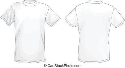 white t shirt design template