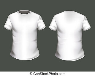 Vector T-shirt Design Template - White Vector T-shirt Design...