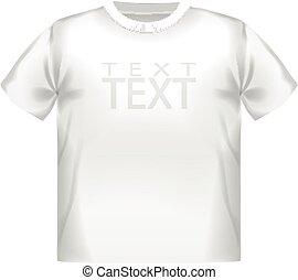 White vector t-shirt design template white isolated design sport