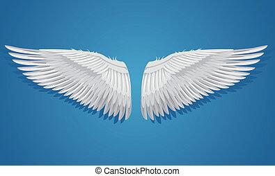 White vector wings
