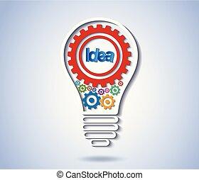 white., vektor, finance., idé, drev, icon., bakgrund, isolerat, lök, skapande, lätt affärsverksamhet, illustration