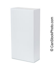White vertical  blank product box