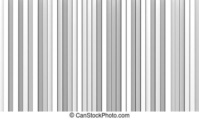 White vertical lines 3D render loopable animation