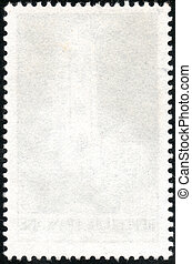 White vertical stamp