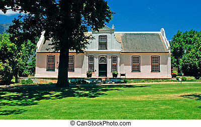 white villa in colonial style (South Africa)