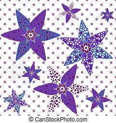 White-violet seamless pattern