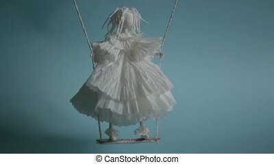 White voodoo puppet love spell - gloomy white voodoo paper...