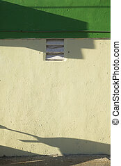 White Wall, Green Roof & Shadows