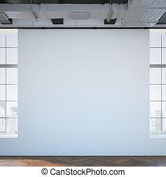 White wall in a modern loft. 3d rendering