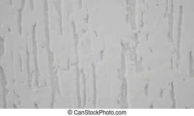 White wall texture with plaster. 4k,