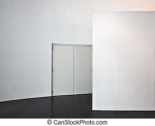 white wall