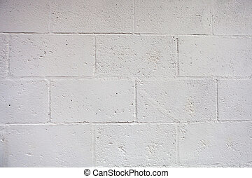 White wall with cement brick surface