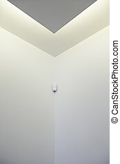 White wall with motion detector