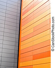 White wall with orange wall