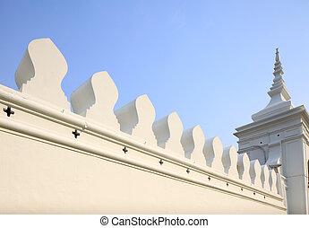 White wall with thai design