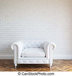 White Walls Brick Interior Room