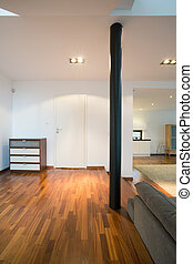 White walls inside spacious house - White walls inside ...