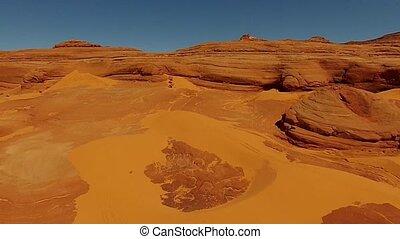 White Wash Sand Dunes Utah USA Aerial