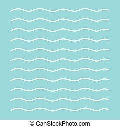 white waves background