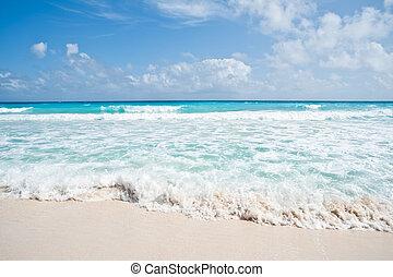White Waves - White waves on white sandy beach