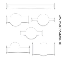 White web elements with shadows