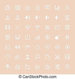 white web icons set in pixel art