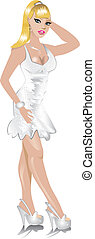 White Wedding Dress - Vector of white wedding dress, can be...