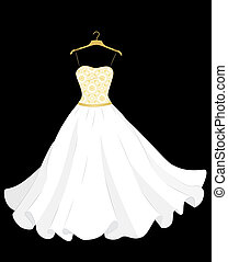 wedding dress - white wedding dress on the hanger
