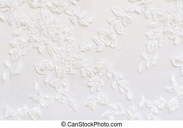 White wedding lace for background