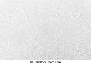 White wet crumpled bed linen texture close-up
