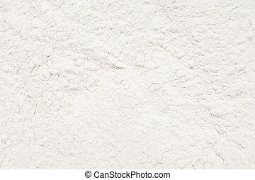 White Wheat Flour Powder Close Up Details