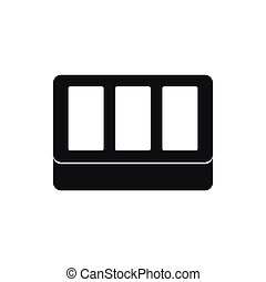 White window frame icon, simple style