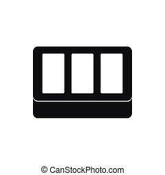 White window frame icon, simple style