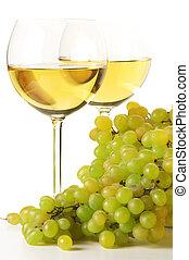 White wine and grape