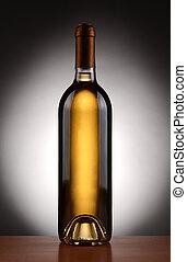 White Wine Bottle Backlit