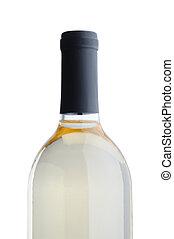 White Wine Bottle over white background