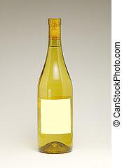 White Wine bottle - Wine bottle with blank label