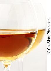 White wine close-up