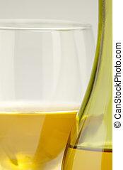 Wine Glass & Bottle Close up