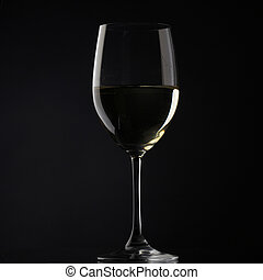 white wine glass silhouette white background