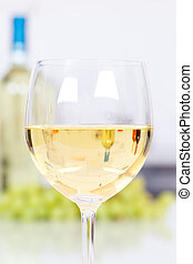 White wine in a glass portrait format copyspace copy space