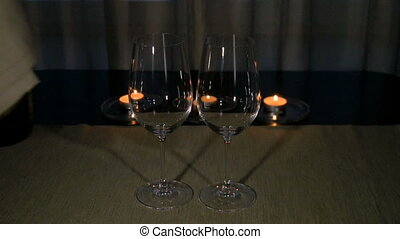 White wine is poured into glasses