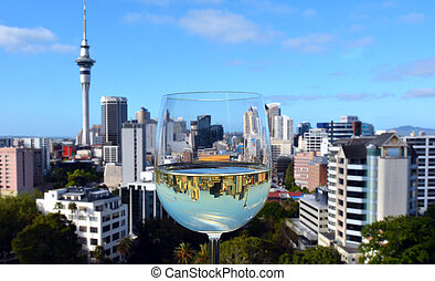 White wine, Sauvignon Blanc- New Zealand - Reflection of...