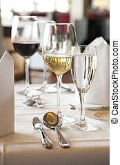 White Wine at Restaurant