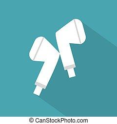 white wireless headphones -vector illustration
