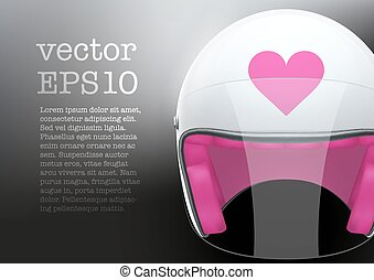 White woman Motorcycle helmet