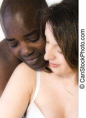 white woman with black man in love